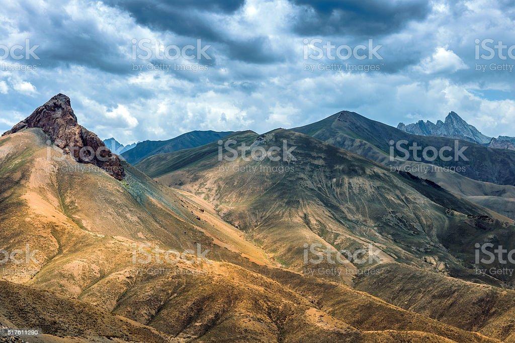 Srinagar-Leh Highway before Namika Pass,Tibet, India stock photo