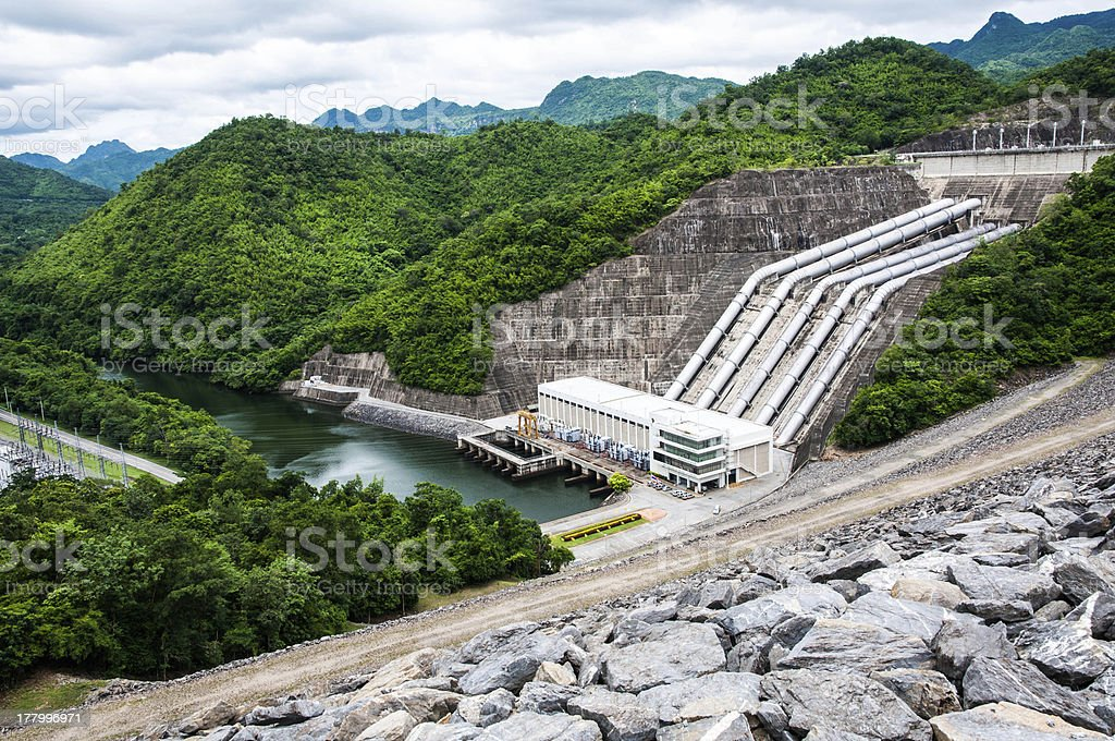 Srinakarin Dam in Thailand stock photo