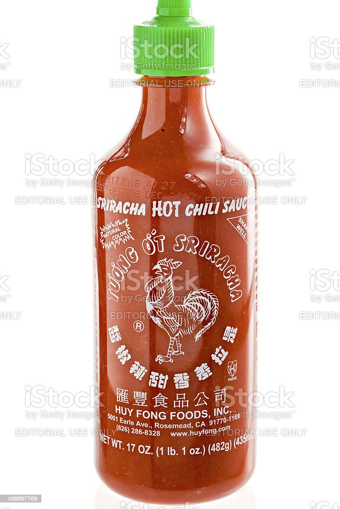 Sriracha Hot Chili Sauce royalty-free stock photo