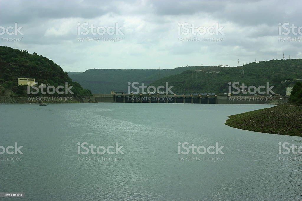Srisailam Dam stock photo