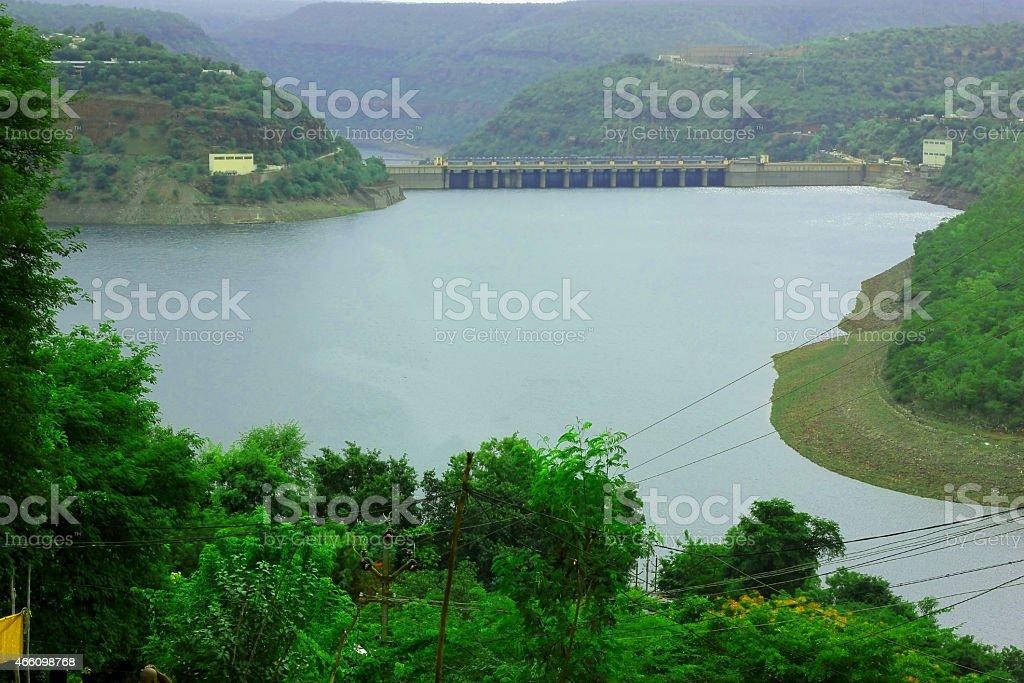 Srisailam Dam, Telangana stock photo
