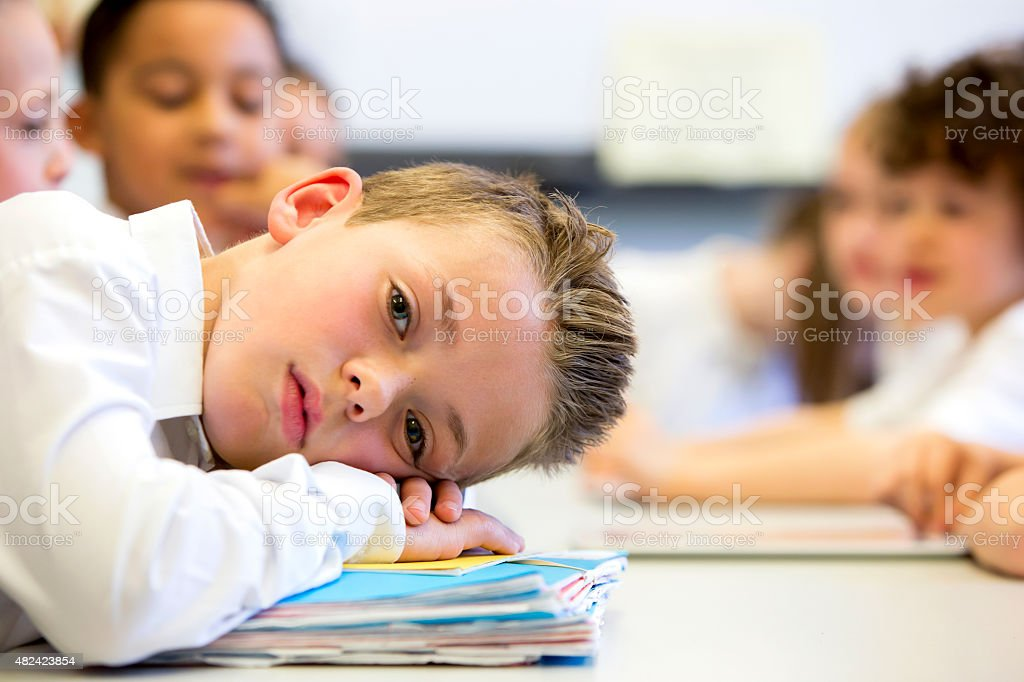 Sruggling At School stock photo