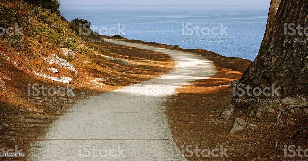 S-shaped path royalty-free stock photo