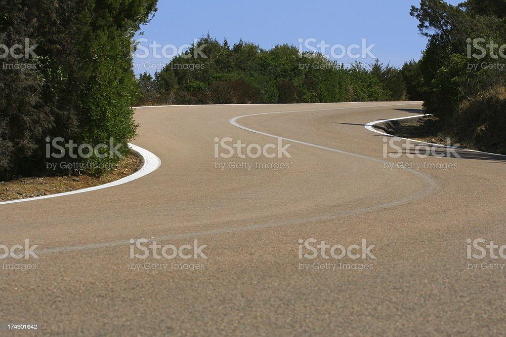 S-shaped road royalty-free stock photo
