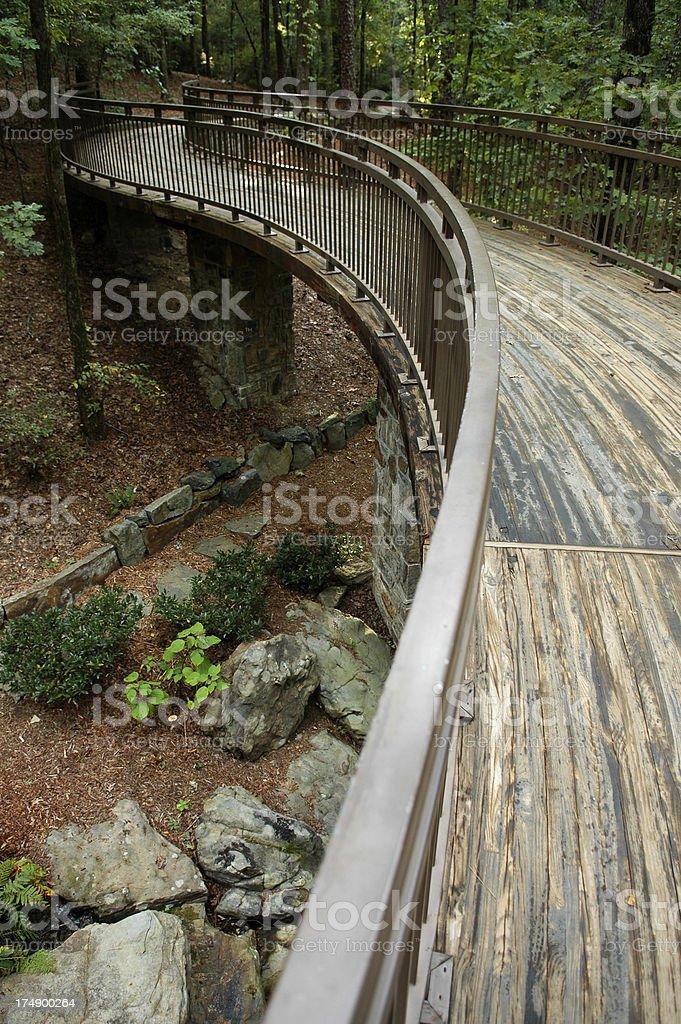 S-Shaped Woodland Walkway royalty-free stock photo