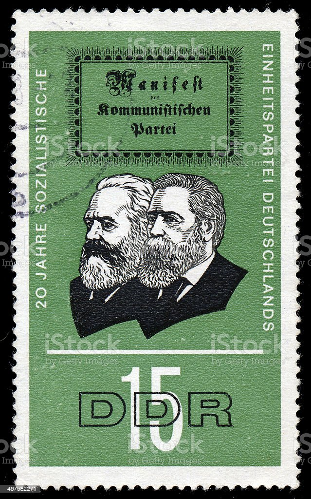 Sstamp shows the 20 years Socialist Unity Party of Germany royalty-free stock photo