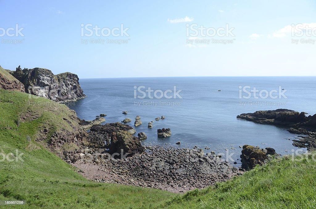 St. Abbs Head Coast royalty-free stock photo