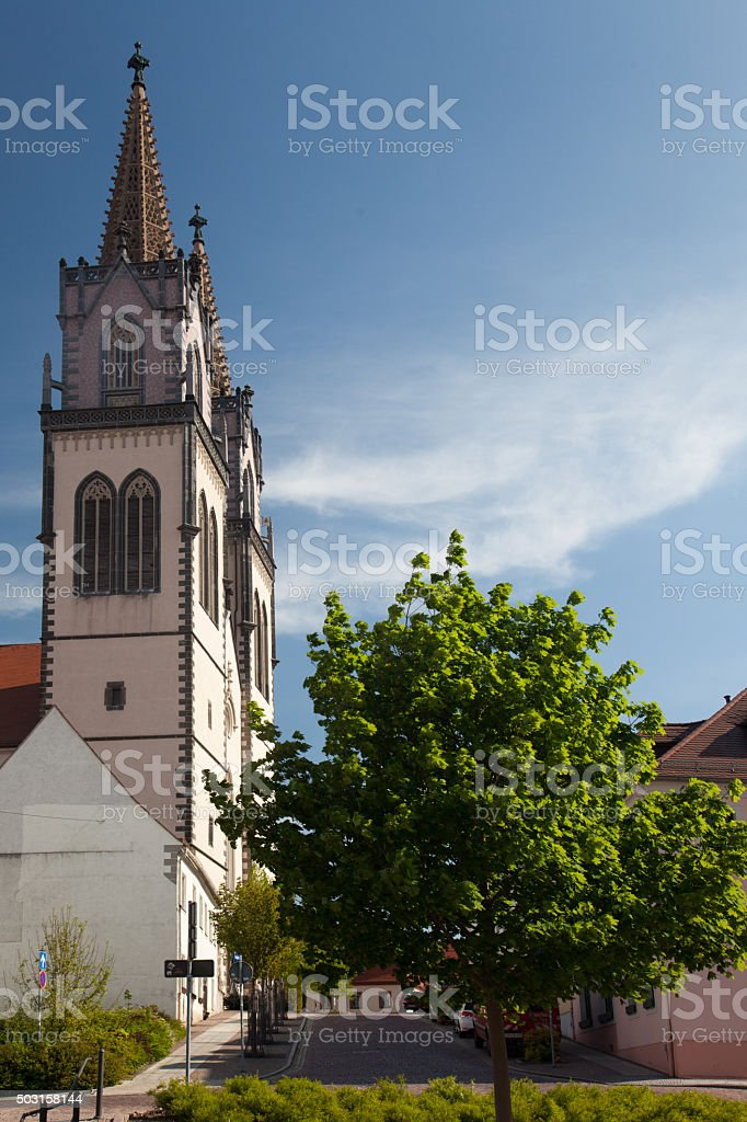St. Aegidien Church Oschatz stock photo