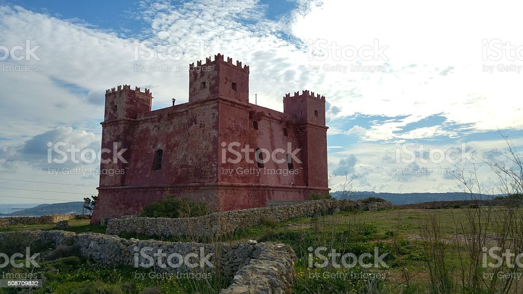 St Agatha's Tower, Malta stock photo