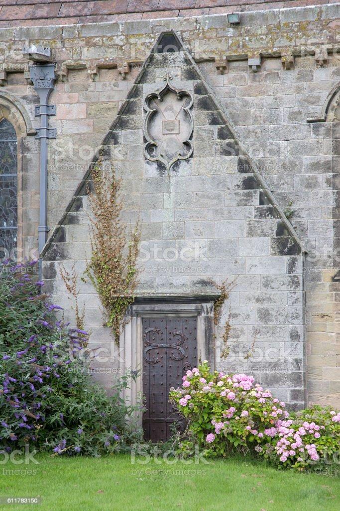St Aidan's Church; Bamburgh, Northumberland stock photo