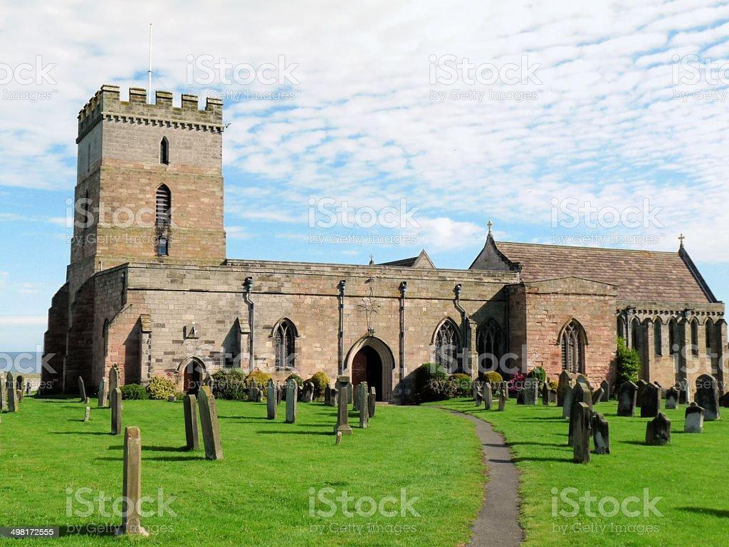 St Aidans Church Bamburgh stock photo