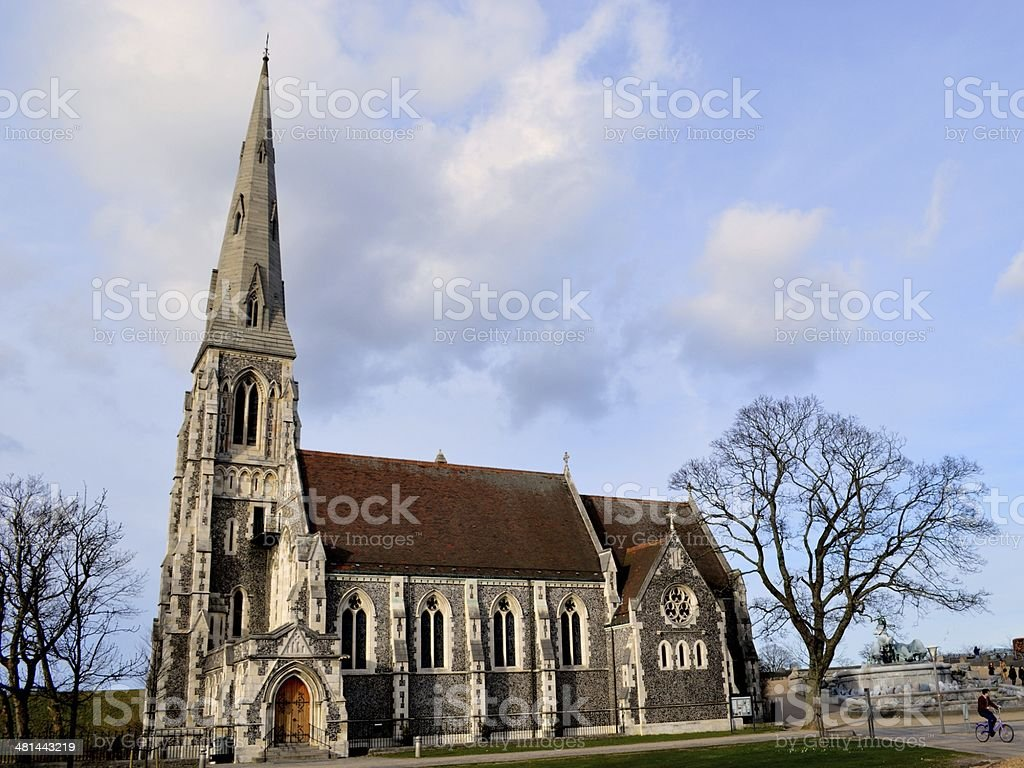 St Alban's Anglican Church in Copenhagen stock photo