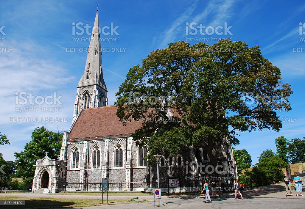 St. Alban's Anglican Church stock photo