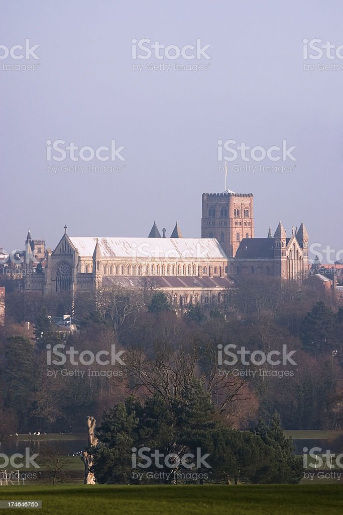 St Albans Cathedral royalty-free stock photo