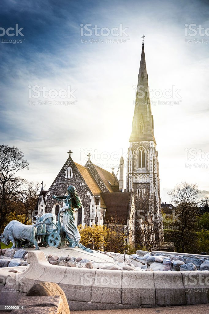 St. Alban's Church in Copenhagen stock photo
