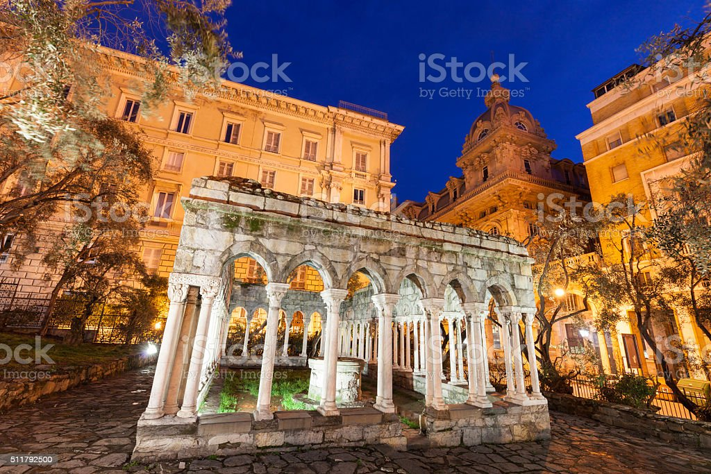 St Andrew cloister ruins stock photo