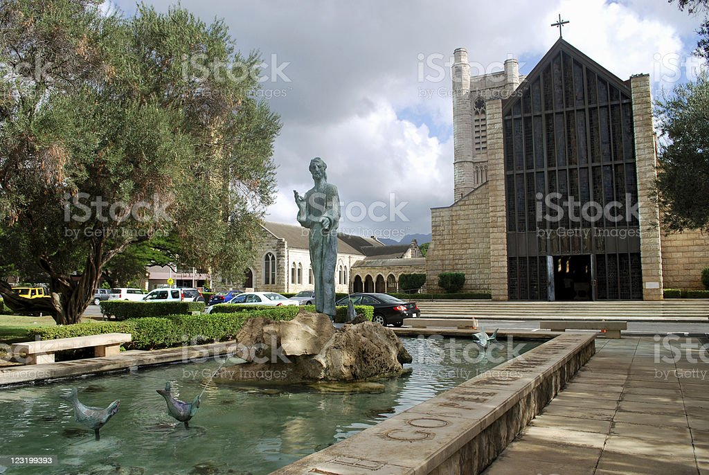 St. Andrew's Cathedral in Honolulu royalty-free stock photo