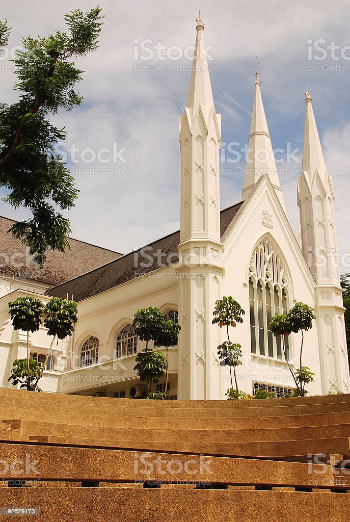 St Andrew's Cathedral, Singapore stock photo