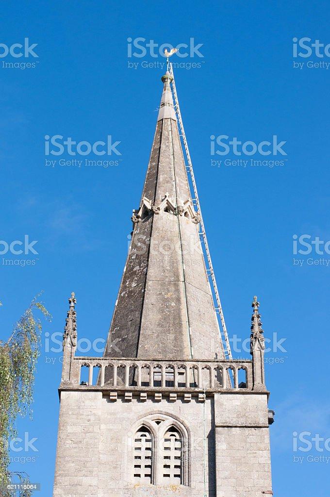 St. Andrew's Church, Chippenham, England stock photo