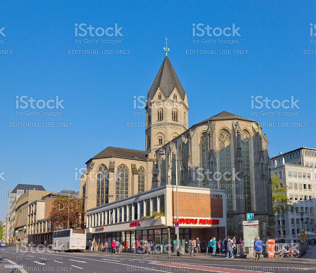 St. Andrew's Church in Cologne, Germany stock photo