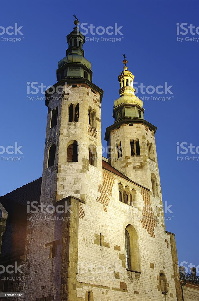 St. Andrews church in Krakow, Poland stock photo