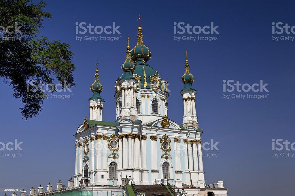 St. Andrew's Church, Kiev stock photo