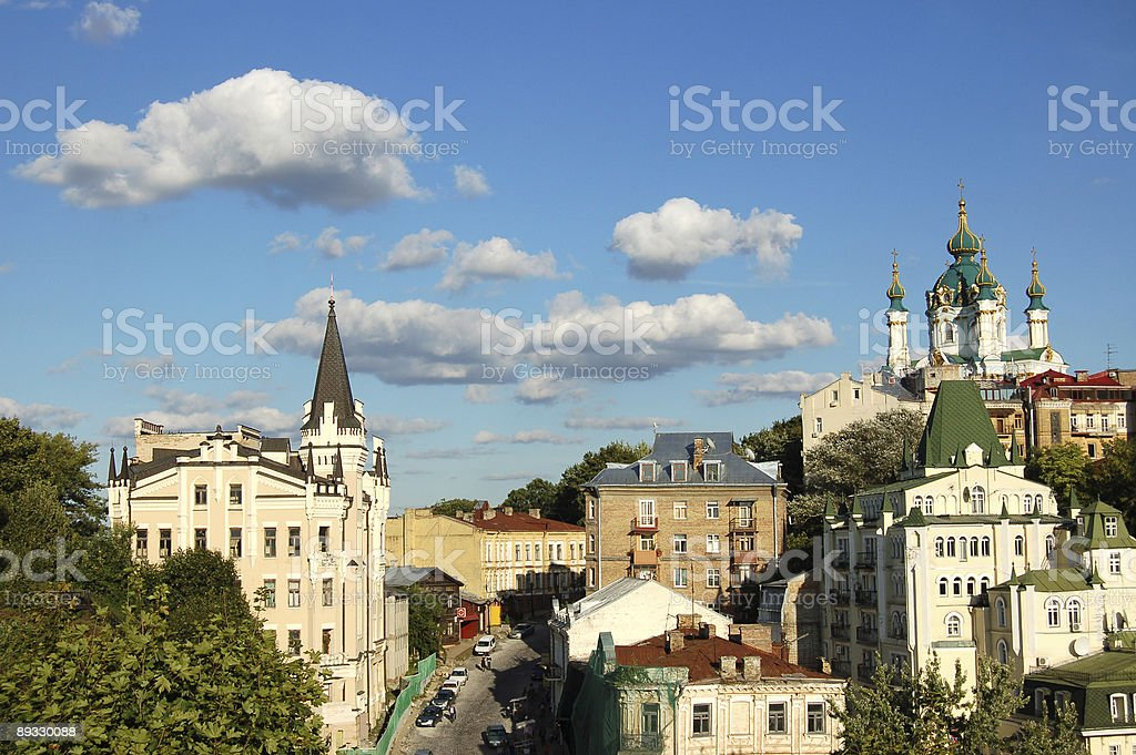 St. Andrew`s Church, Kiev, Ukraine royalty-free stock photo