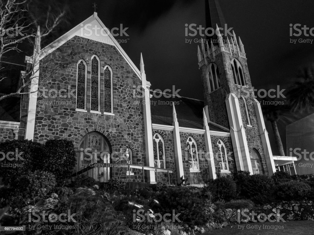 St Andrews Church, New Plymouth, New Zealand stock photo