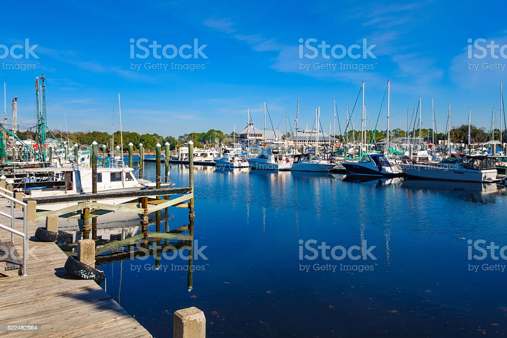 St Andrews Marina in Panama City Florida USA stock photo