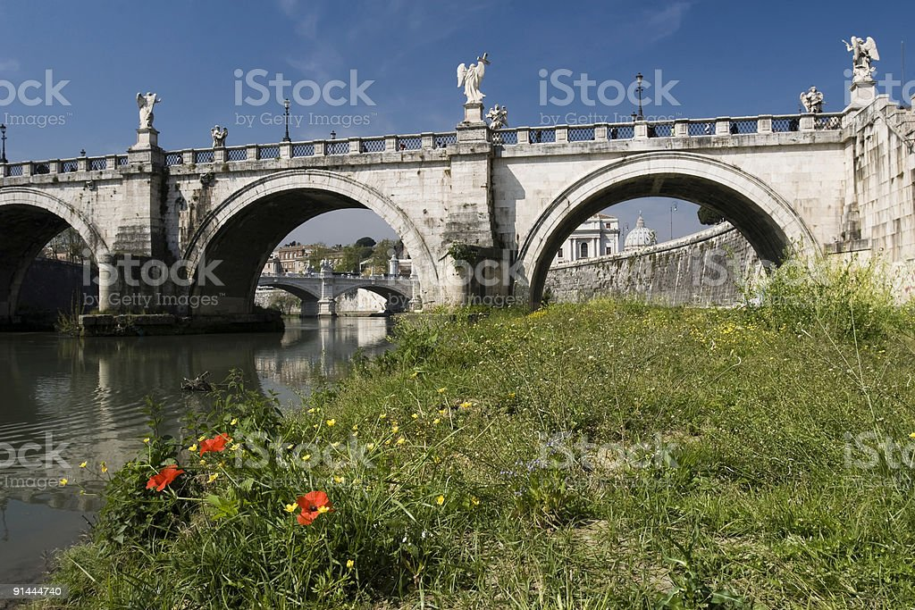 St. Angelo Bridge royalty-free stock photo