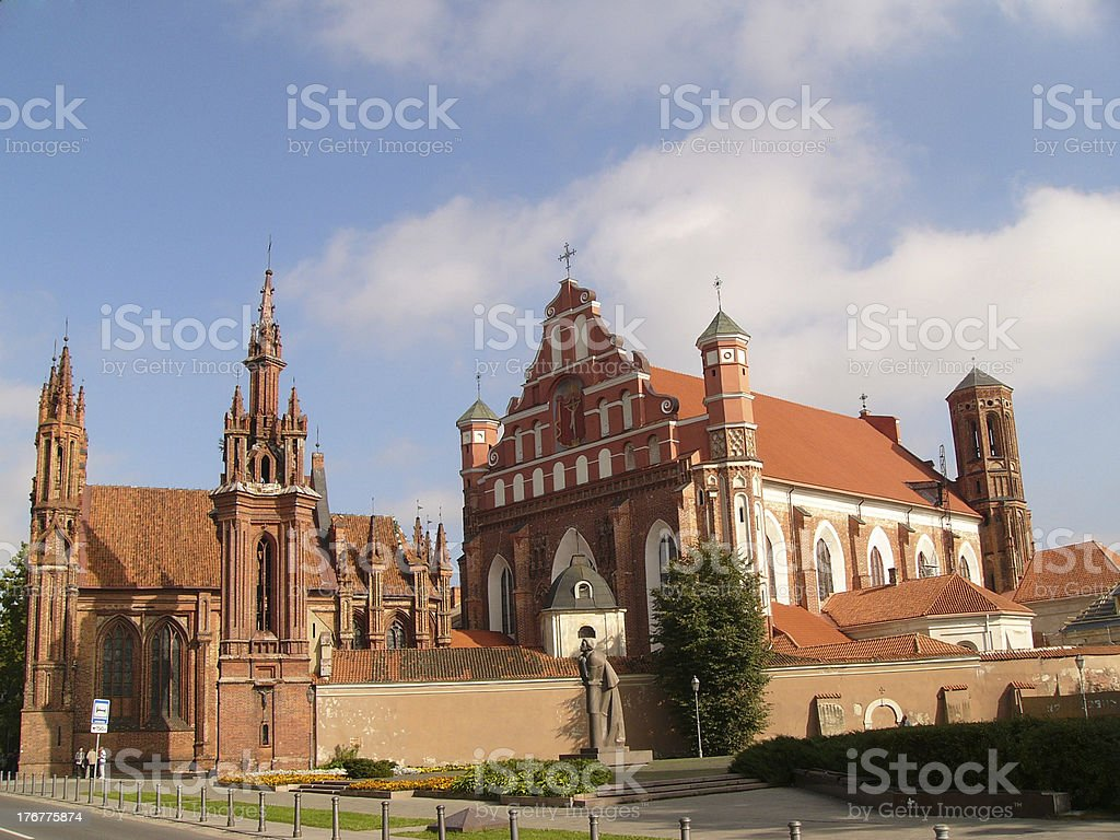 St. Ann and St. Bernardin churches royalty-free stock photo