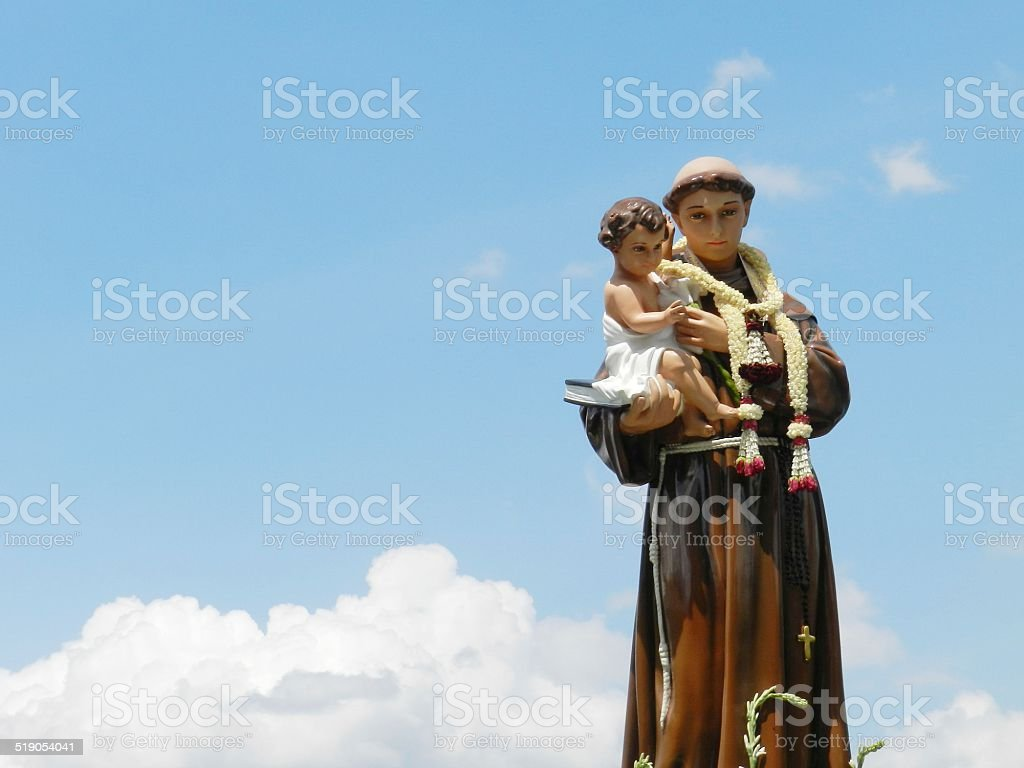 St. Anthony & blue sky stock photo