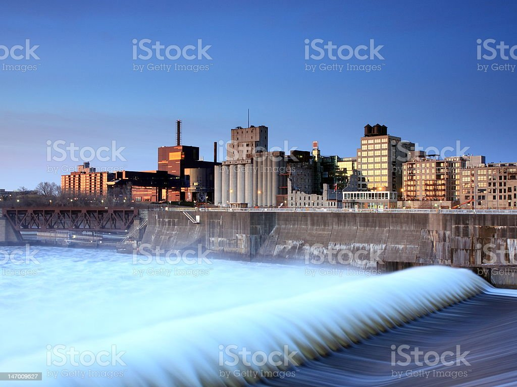 St Anthony Lock and Dam in Minneapolis royalty-free stock photo