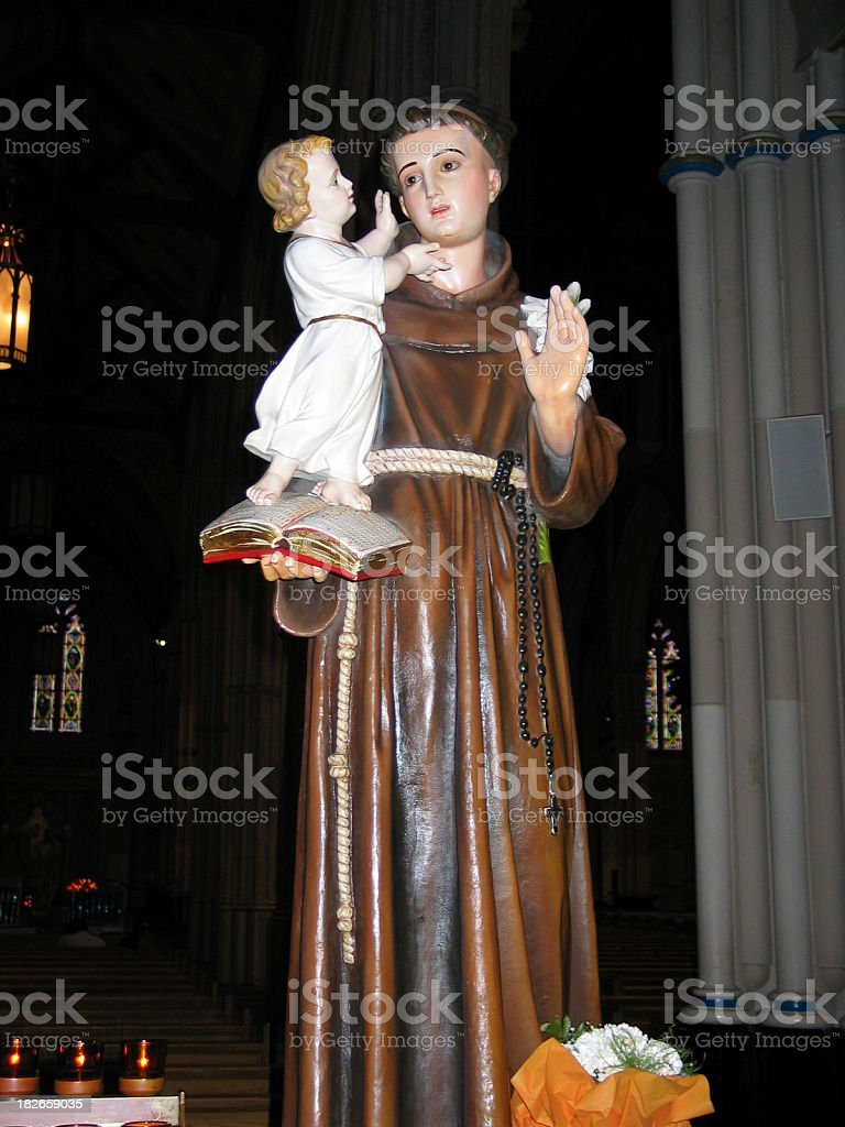 St Anthony with the child Jesus royalty-free stock photo