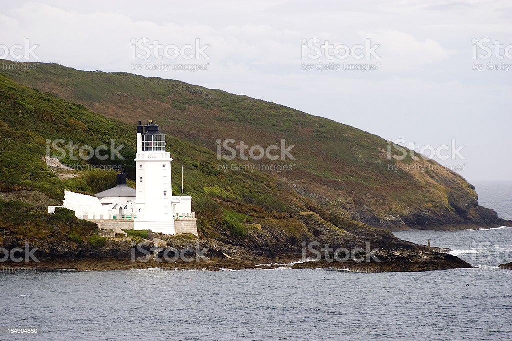 St Anthony's Lighthouse, Falmouth, Cornwall, UK stock photo