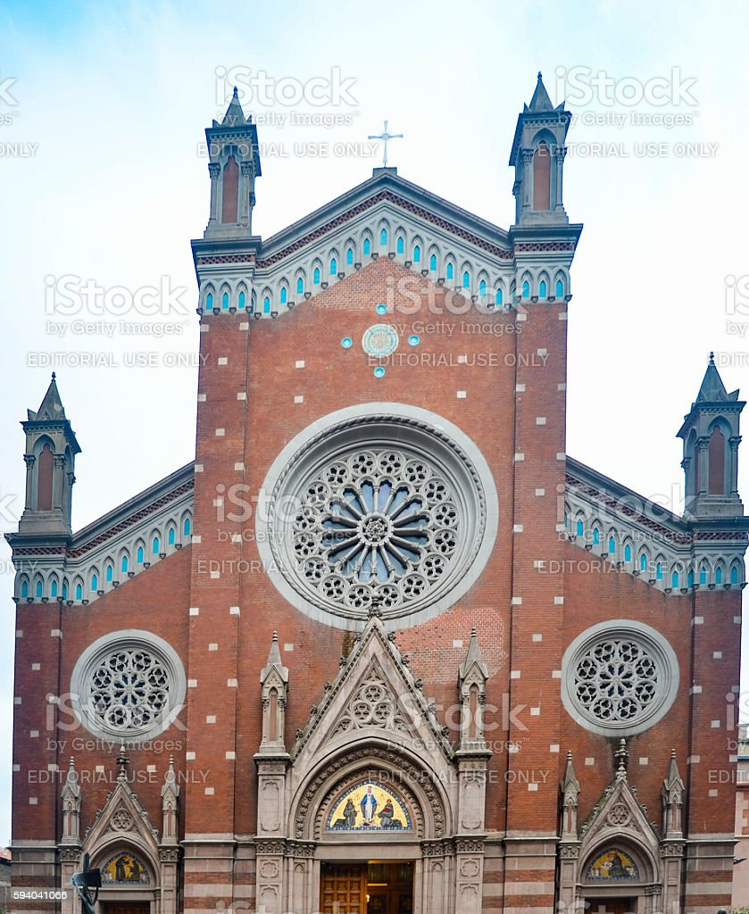 St. Antoine Catholic Church Istanbul stock photo