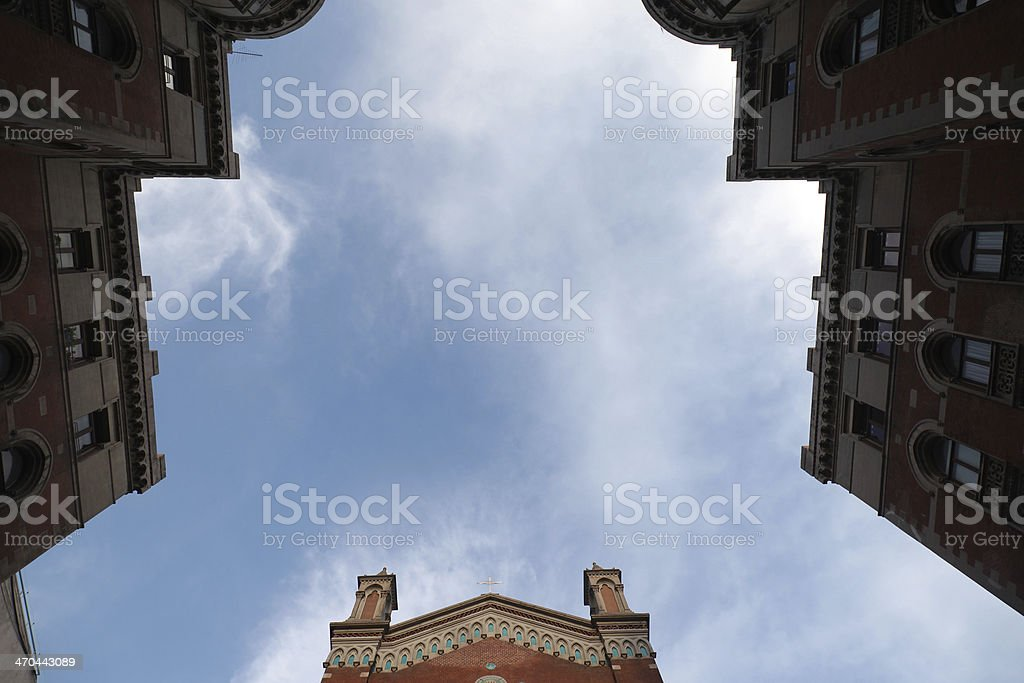St Antoine catholic curch in Istanbul Turkey stock photo
