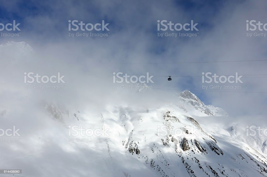 St Anton - Ski lift Valluga stock photo