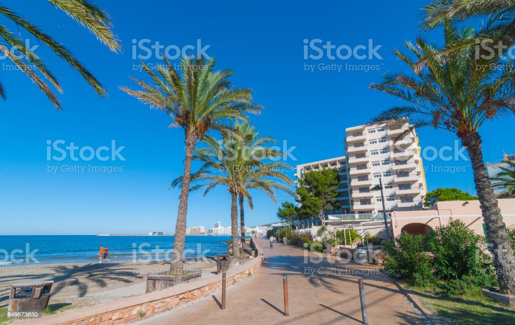 St Antoni de Portmany,  Ibiza,  Balearic Islands, Spain. stock photo