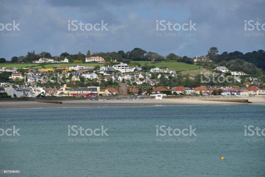 St Aubins Bay, Jersey, U.K. stock photo