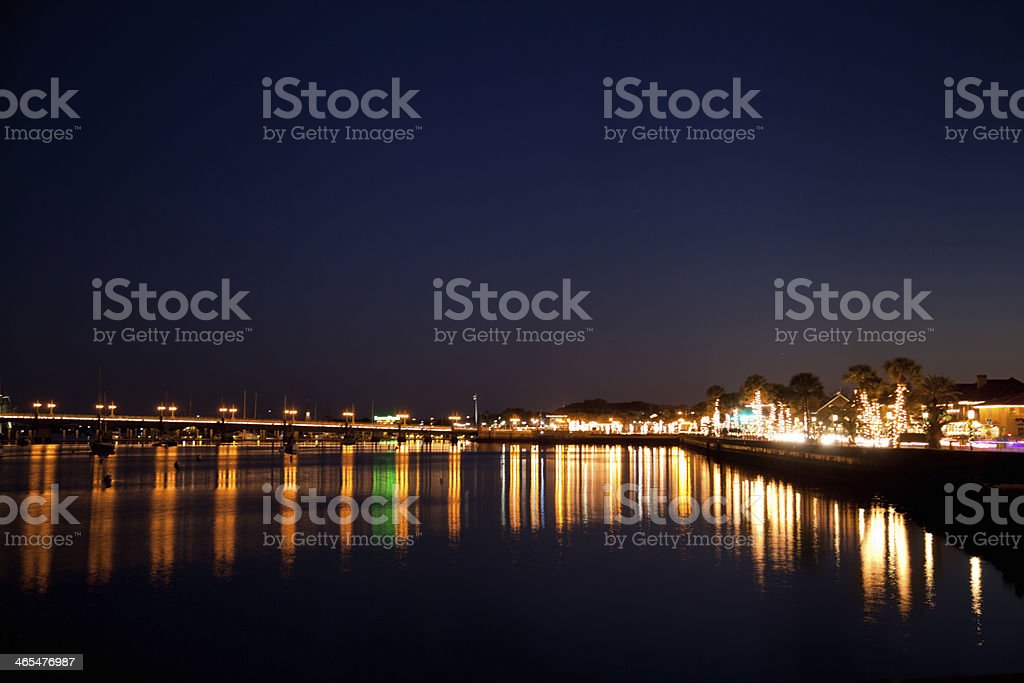 St. Augustine and the Bridge of Lions royalty-free stock photo