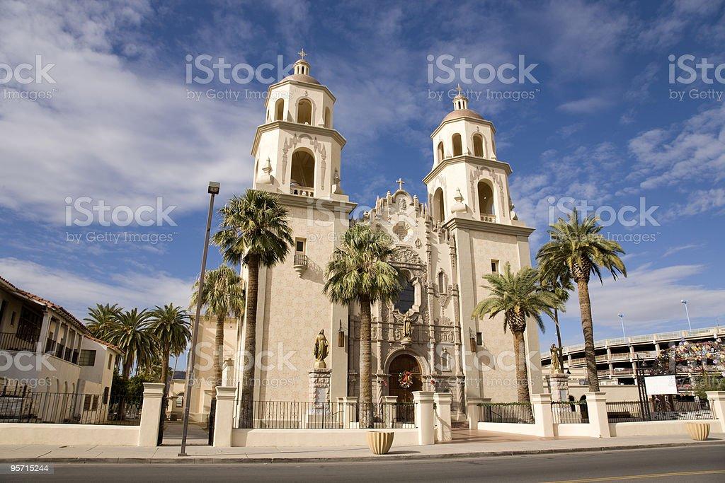 St. Augustine Cathedarl in Tucson Arizona stock photo