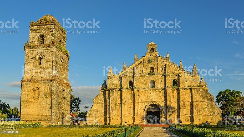 St. Augustine Church - Paoay, Ilocos Norte, Philippines stock photo