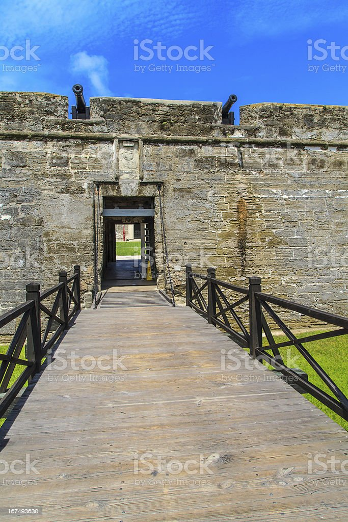 St. Augustine Fort, Castillo de San Marcos National Monument royalty-free stock photo