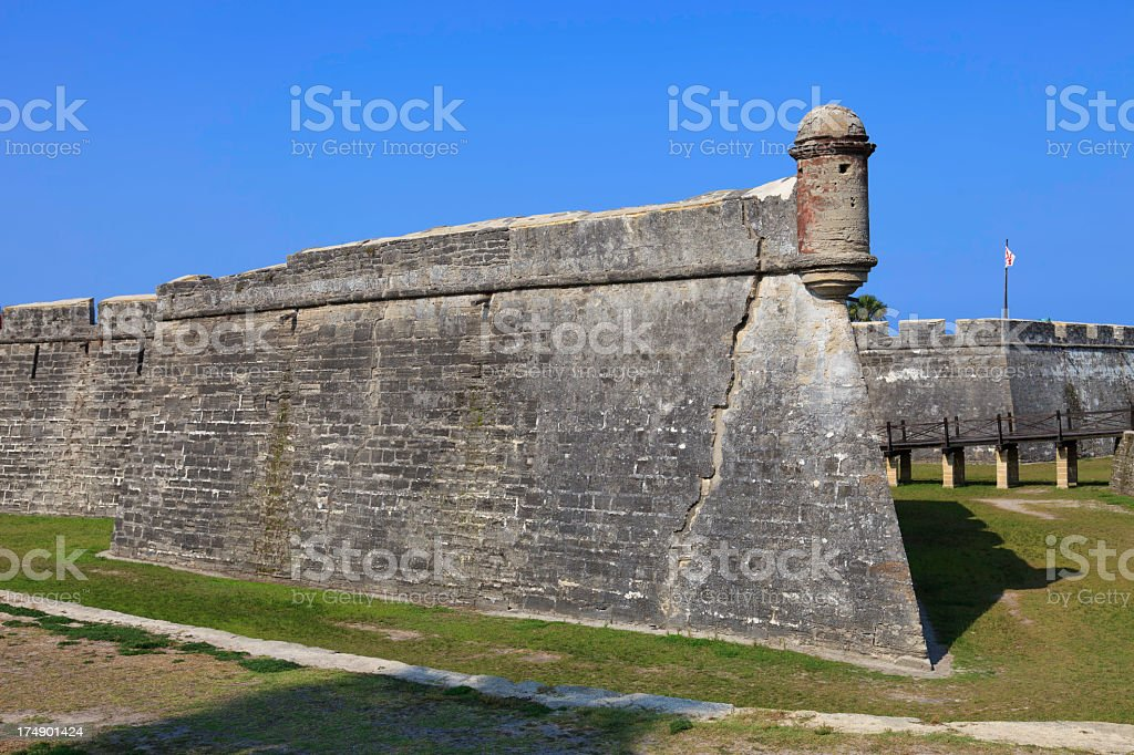 St. Augustine Fort stock photo