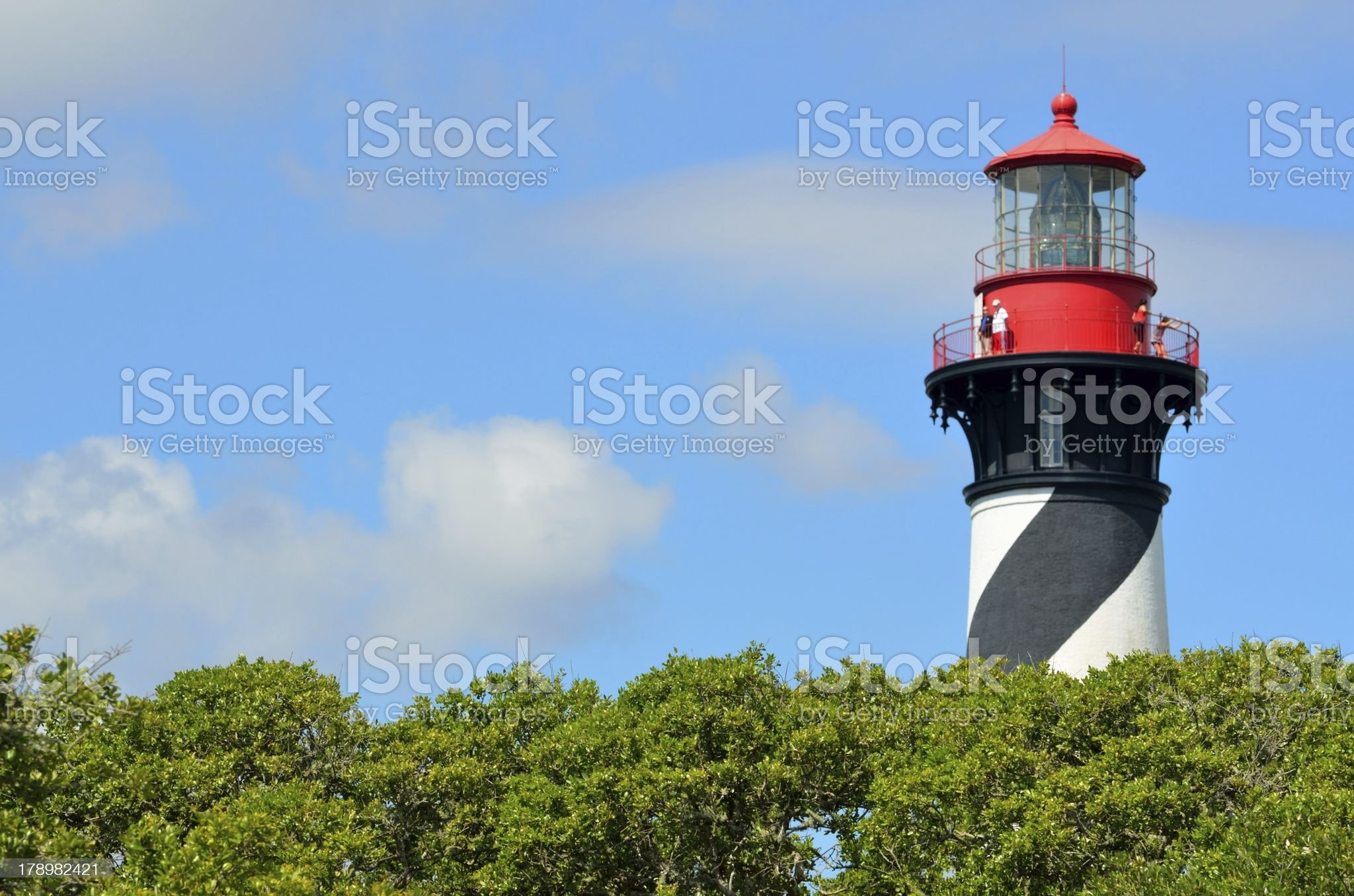 St. Augustine Lighthouse royalty-free stock photo