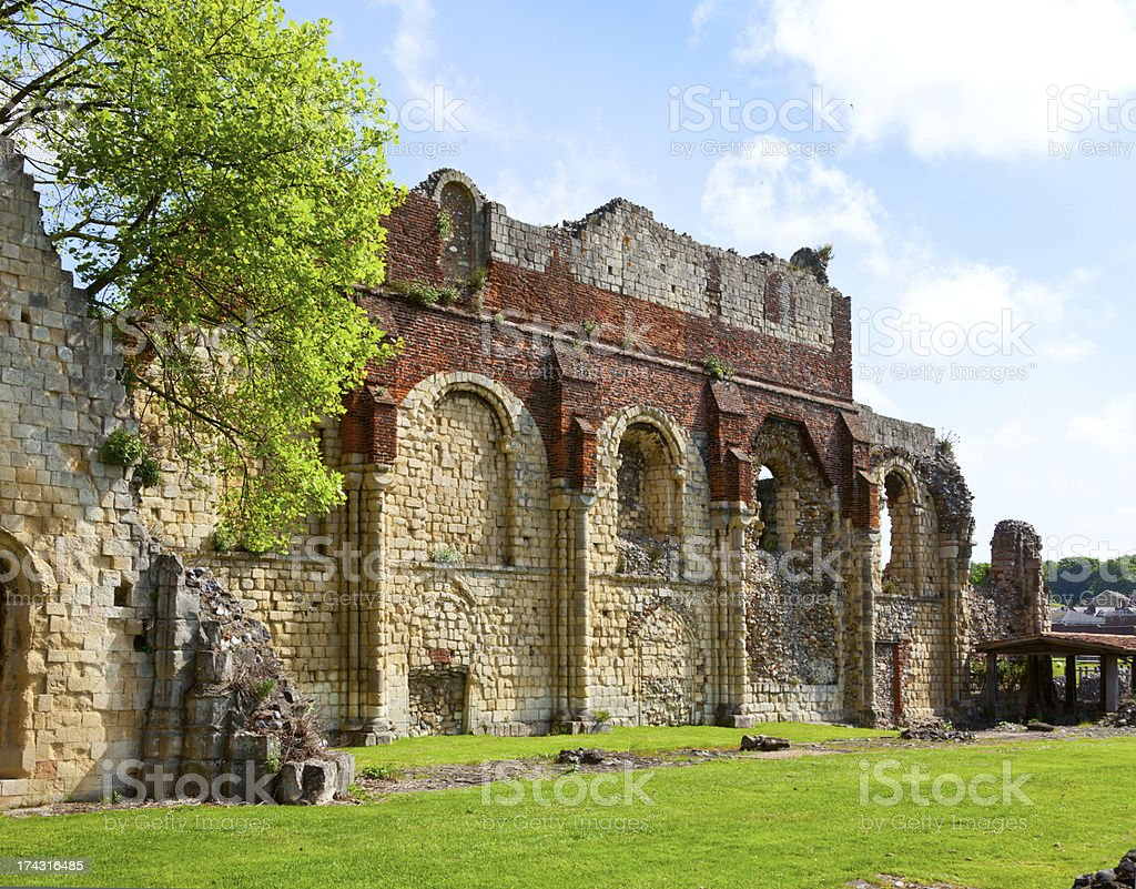 St Augustines Abbey in Canterbury stock photo