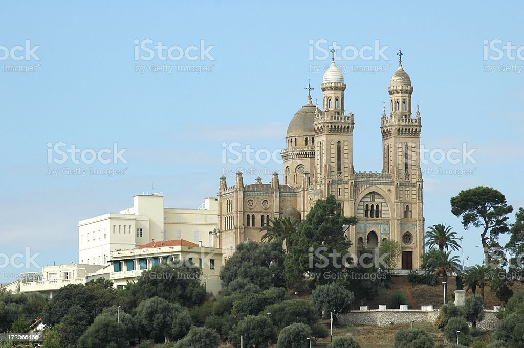 St. Augustine's Cathedral in Algeria royalty-free stock photo