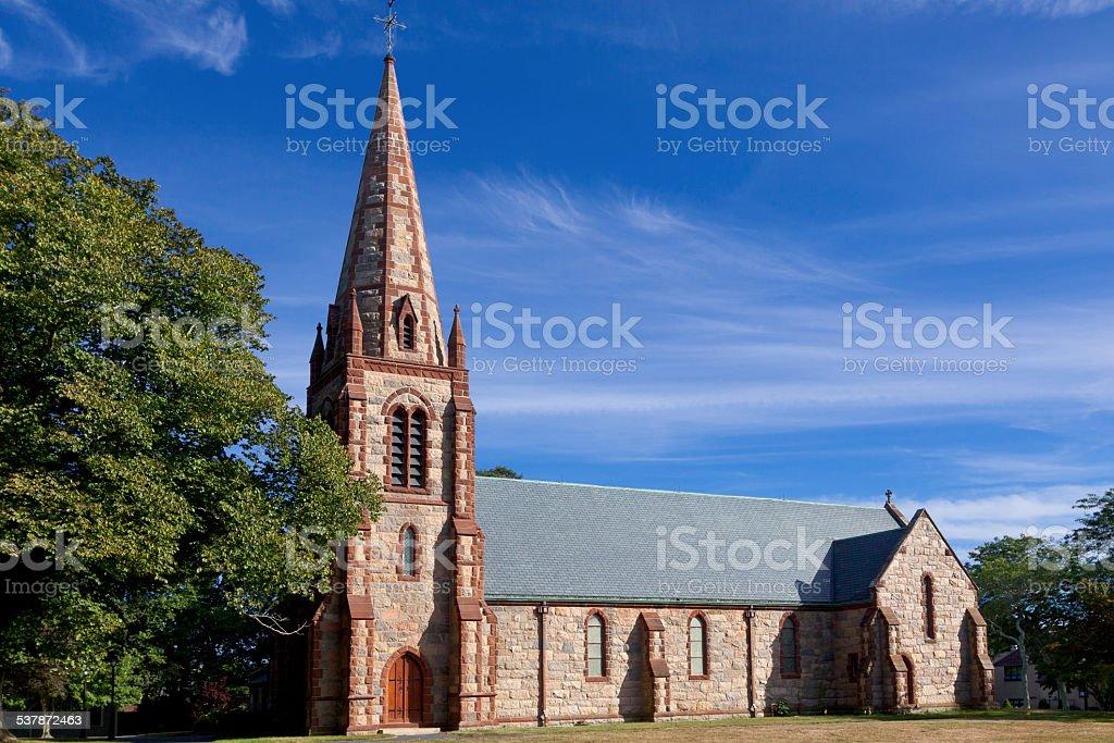 St Barnabas Episcopal Church in Falmouth, Cape Cod, Massachusetts, USA. stock photo