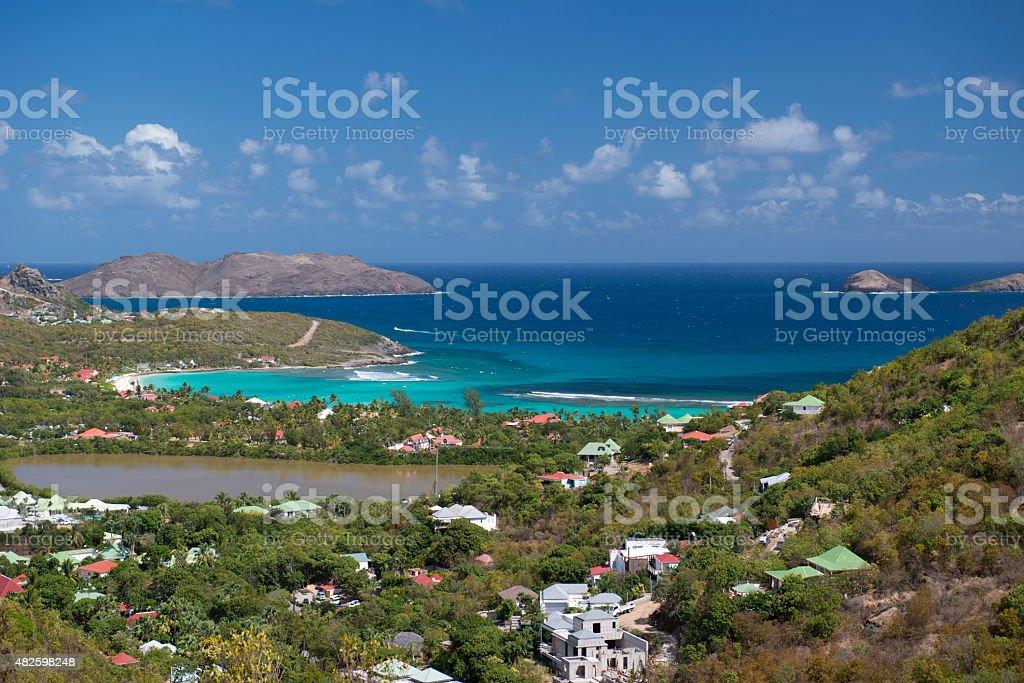 St Barth Beach, Caribbean sea stock photo